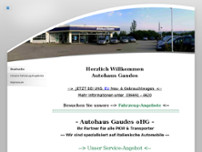 Autohaus Gaudes OHG website screenshot