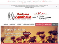 Barbara-Apotheke website screenshot