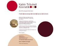 Katrin Tribukeit website screenshot