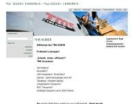 TMS Kurier Kleintransporte GbR website screenshot