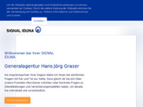 SIGNAL IDUNA Hans Jörg Graser website screenshot