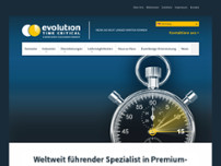 Evolution Time Critical Deutschland LTD. website screenshot