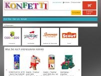 Konfetti website screenshot