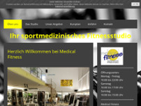 Medical Fitnessstudio website screenshot