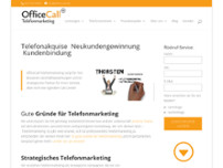 OfficeCall Telefon Marketing website screenshot