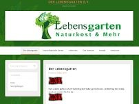 Lebensgarten Naturkost website screenshot