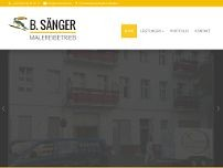 B. Sänger website screenshot