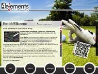 4elements Werbeagentur website screenshot