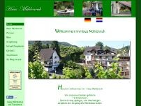 Haus Mühlenruh website screenshot
