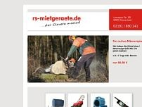rs-mietgeräte website screenshot