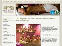 Gold Elephant Royal Thai Wellness website screenshot