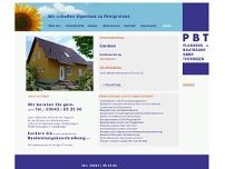 PBT Planungs- u. Bauträger GmbH website screenshot