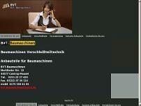 BVT-Baumaschinen website screenshot