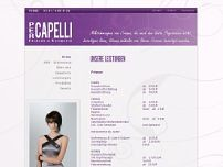 PER CAPELLI website screenshot