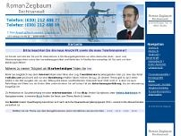 Rechtsanwalt Roman Zegbaum website screenshot