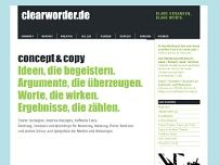 clearworder.de website screenshot
