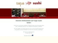 Sapa Sushi website screenshot