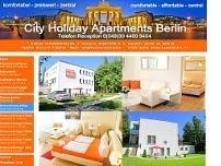 Pension City Holiday Apartments Berlin website screenshot