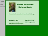 Wiebke Siebenhaar website screenshot