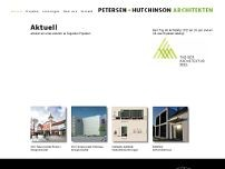 Petersen + Hutchinson Architekten website screenshot