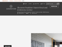 Sheraton Frankfurt Airport Hotel and Conference Center website screenshot