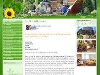 Landgasthof Kemter website screenshot