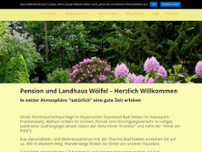 Kurpension & Landhaus Wölfel website screenshot