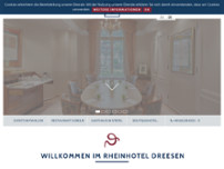 Dreesen Rheinhotel website screenshot