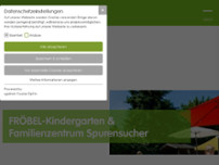 FRÖBEL-Kindergarten Spurensucher website screenshot