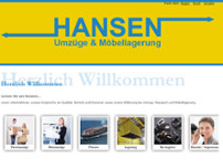 Hansen Spedition Aps website screenshot