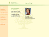 Brigitta Kluge website screenshot