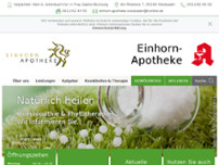 Einhorn-Apotheke website screenshot