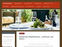 Restaurant Altmühltherme website screenshot