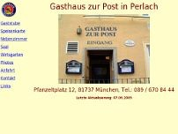 Gasthof Zur Post website screenshot