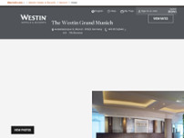 The Westin Grand Munich website screenshot
