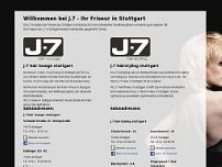 J-7 hairstyling Stuttgart website screenshot