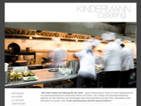 Partyservice Kindermann website screenshot