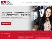 LOTIS Logistics Time Solutions GmbH website screenshot