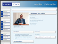 Björn Günther Rechtsanwalt website screenshot