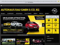 Autohaus Manfred Rau GmbH & Co.KG website screenshot