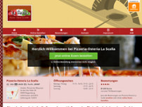 "Pizzeria-Osteria ""La Scalla"" website screenshot"