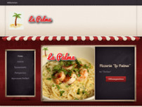 Pizzeria La Palma website screenshot
