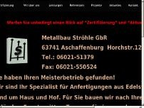 Metallbau Ströhle GbR website screenshot
