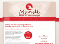 Physiotherapie Praxis Mandl website screenshot