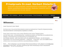 Norbert Disterheft website screenshot