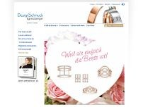Design-Schmuck Egretzberger website screenshot