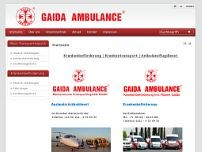 Gaida Ambulance website screenshot