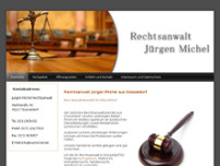 Rechtsanwalt Jürgen Michel website screenshot