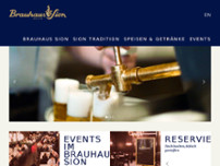 Brauhaus Sion website screenshot