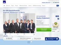 AXA Versicherungen Stephan Heidemann - Berlin website screenshot